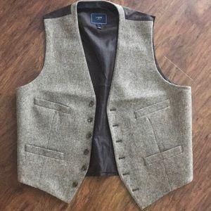 Men's tweed J. Crew vest, worn once!